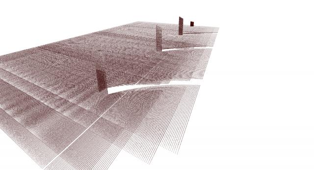 Pointcloud Darstellung der gemessenen Szene mit Octovis